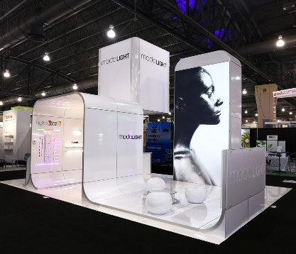 Trade show displays by E&E Exhibit Solutions.