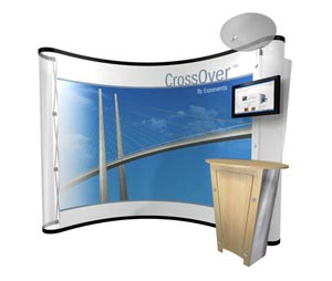 CrossOver kiosks for pop up displays
