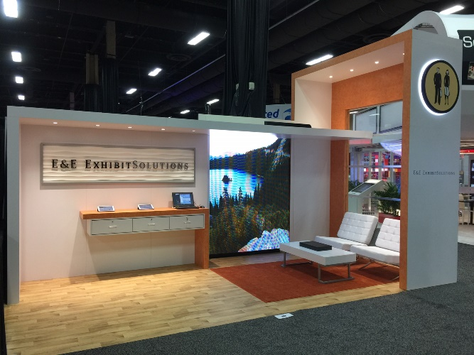 Texas trade show rentals by E&E Exhibit Solutions.